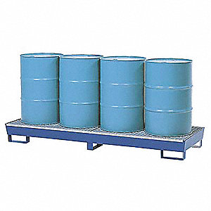 Spill Containment Platforms, Uncovered, 55 gal. Spill Capacity, 2400 lb.