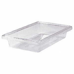 "18"" x 12"" x 3-1/2"" Co-Polyester Food Box, Clear"
