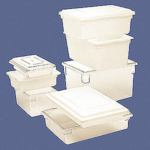 "26"" x 18"" x 12"" Polyethylene Tote Box, White"