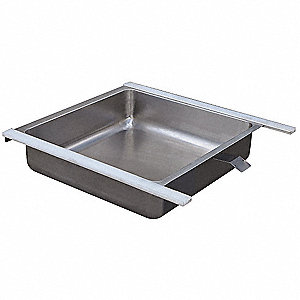 "22-1/16"" x 21-7/16"" x 5-1/16"" Stainless Steel Worktable Drawer, Gray"