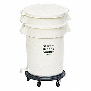 "33-1/2"" x 23-1/2"" x 33-1/2"" Plastic Vegetable Crisper Container with 20 gal. Load Capacity, White"