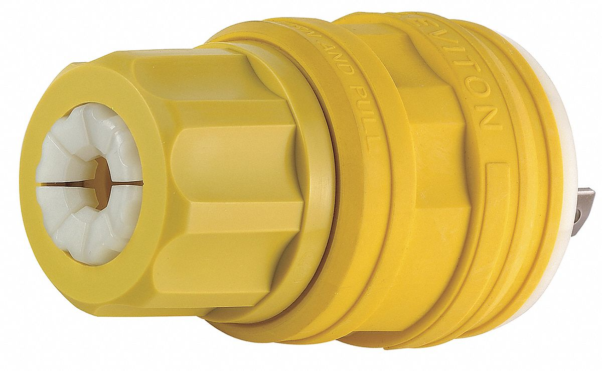 Leviton 30a Industrial Grade Non Shrouded Watertight Locking Plug L15 30 Wiring Diagram Yellow Nema Configuration 30p 4uff7 28w75 Grainger