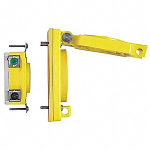 Yellow Locking Receptacle, 20 Amps, 120/240VAC Voltage, NEMA Configuration: L14-20R