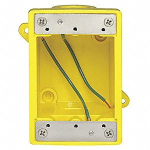 Weatherproof Electrical Box, 1-Gang, 2-Inlet, Glass-Filled Polyester