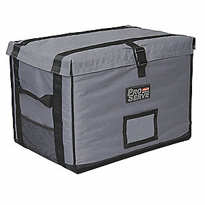 Insulated Carrier,18 1/4x 27 x 16, Gray