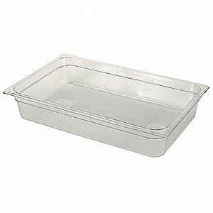 "20-13/16"" x 12-13/16"" x 6"" 20-5/8 Qt. Polycarbonate Cold Food Pan"