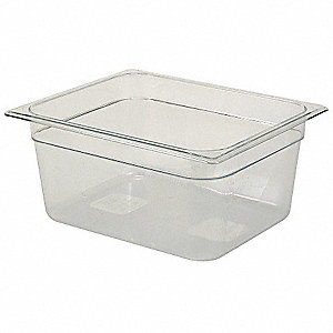 "12-13/16"" x 10-3/8"" x 6"" 9-1/3 Qt. Polycarbonate Cold Food Pan"