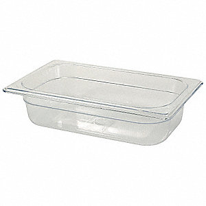 "10-3/8"" x 6-3/8"" x 2-1/2"" 1-2/3 Qt. Polycarbonate Cold Food Pan"