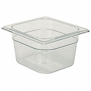 "6-7/8"" x 6-3/8"" x 4"" 1-2/3 Qt. Polycarbonate Cold Food Pan"