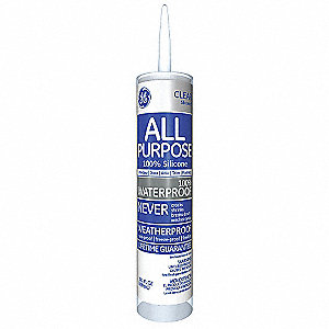 Clear Window and Door Sealant, Silicone, 10.1 oz. Cartridge