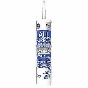 White Window and Door Sealant, Silicone, 10.1 oz. Cartridge