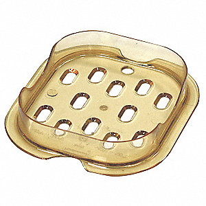 "4-1/4"" x 4-3/4"" x 7/8"" Polycarbonate Hot Food Pan Drain Tray"