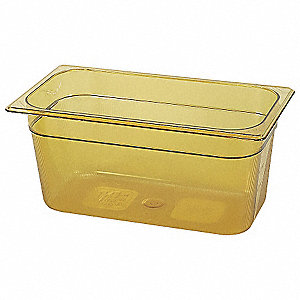 "12-13/16"" x 6-7/8"" x 6"" 5-3/8 Qt. Polycarbonate Hot Food Pan"