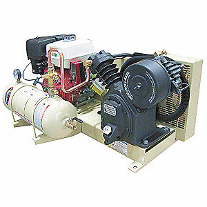 "4 gal. 22-7/64"" x 40-1/2"" x 27"" Stationary Air Compressor&#x3b; Fuel Type: Gasoline"