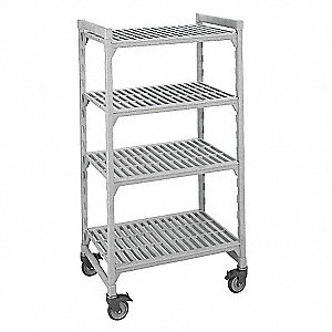 Mobile Shelving Unit,75InH,24InW,48InD