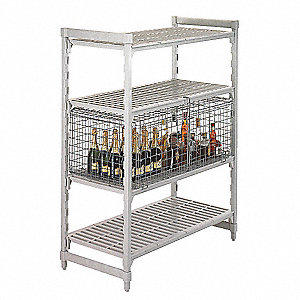 Security Cage, 18x42 1/2x25 1/4 In., Gray
