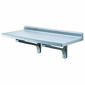 "36"" x 18"" x 13-1/2"" Polypropylene Wall Shelf, Gray"