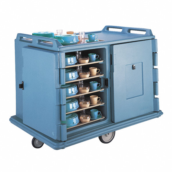 Cambro Meal Delivery Cart 55 1 8x38x43 1 4 Blue 4ujn8