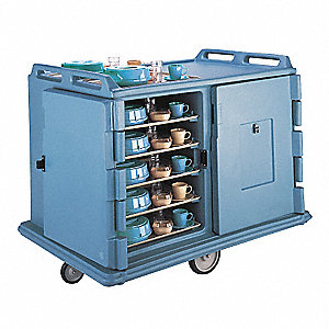 Meal Delivery Cart,55 1/8x38x43 1/4,Blue