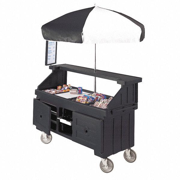 Cambro Vending Cart Black Polyethylene 4ujp6 Eacvc724110 Grainger