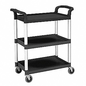 Utility Cart,300 lb. Load Cap.,3 Shelves