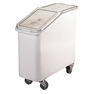 "29-1/2"" x 13"" x 28 Ingredient Bin, White"