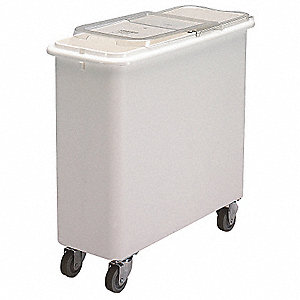 "30-1/8"" x 13"" x 28-1/2 Ingredient Bin, White"