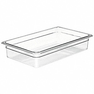 "20-7/8"" x 12-3/4"" x 4"" 13.7 Qt. Polycarbonate Food Pan"