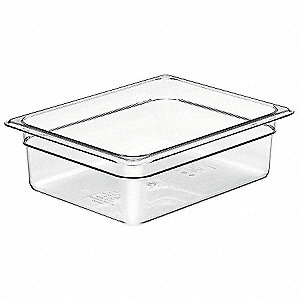 Food Pan,Half Size, Clear,PK6