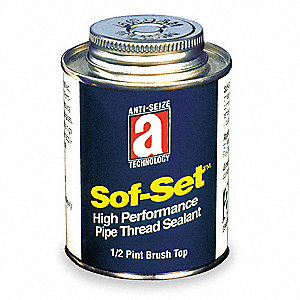 8 oz. Brush Top Can Pipe Thread Sealant with 2600 psi, Yellow
