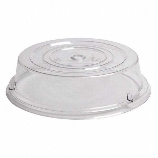 Cambro Plate Covers Dia 11 In Clear Pk12 4ukn1