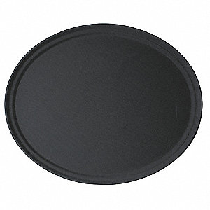 Tray,Oval, 22x 26 7/8,Black,PK6