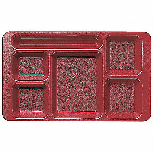 Compartment Tray,Cranberry,PK24