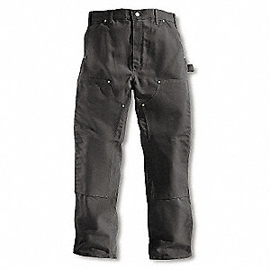 Double Front Work Pants,Black,Size 33x32