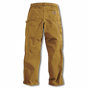 Work Pants,Washed Brown,Size34x34 In