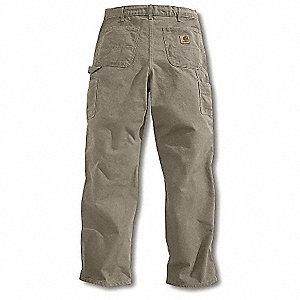 "Men's Dungaree Work Pants, 100% Ring Spun Cotton Duck, Color: Washed Desert, Fits Waist Size: 32"" x"