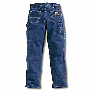 "Men's Dungaree Work Pants, 100% Cotton Denim, Color: Darkstone, Fits Waist Size: 38"" x 34"""