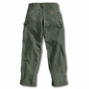 Canvas Work Pants,Fatigue,Size34x36 In
