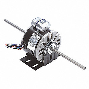 1/6 HP Room Air Conditioner Motor,Permanent Split Capacitor,1075 Nameplate RPM,115 Voltage,Frame 48Y
