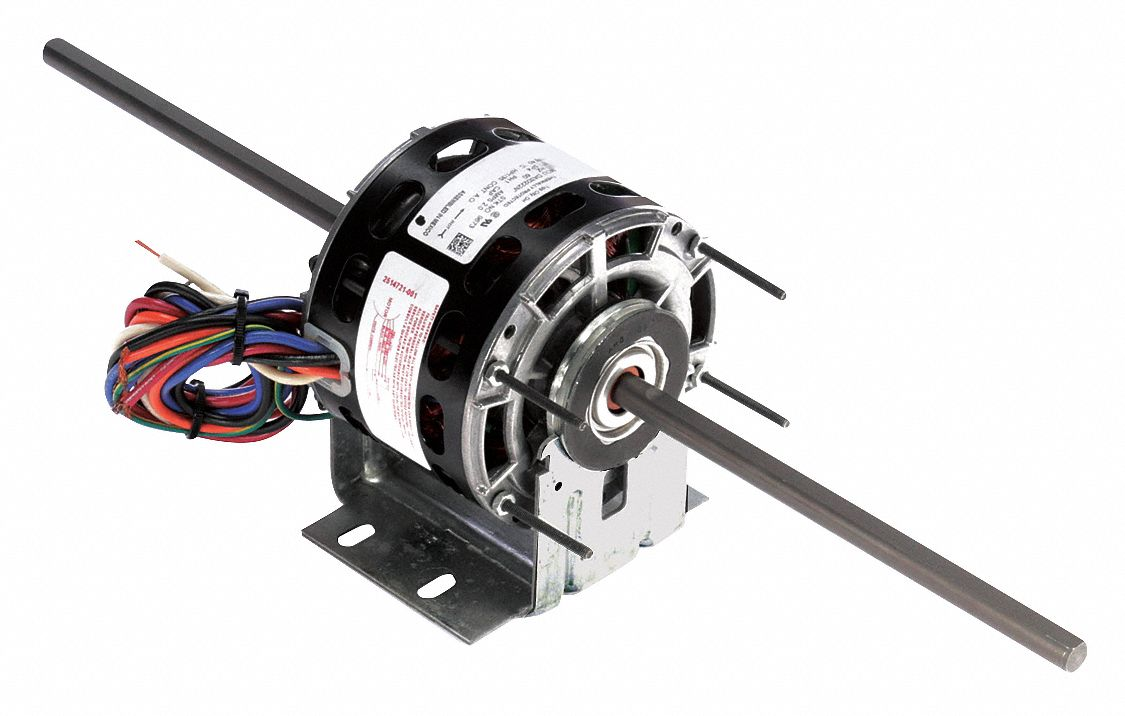 Room Air Conditioner Motor,  1/35 HP,  Shaded Pole,  Nameplate RPM 1,050,  No. of Speeds 4