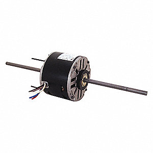 1/4 HP Room Air Conditioner Motor,Permanent Split Capacitor,1550 Nameplate RPM,115 Voltage,Frame 48Y
