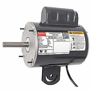 dayton 1/2 hp pedestal fan motor, permanent split capacitor, 1075 nameplate  rpm,115 voltage, frame 48yz - 4ux63|4ux63 - grainger