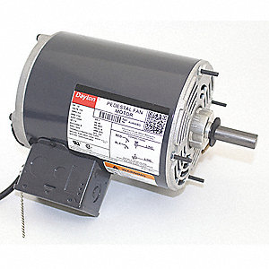 1/4 HP Pedestal Fan Motor, Split-Phase, 1725 Nameplate RPM,115 Voltage, Frame 48YZ
