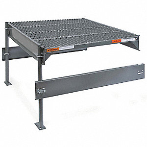 "Work Platform Add On Unit, Steel, Single Access Platform Style, 12"" to 27"" Platform Height"