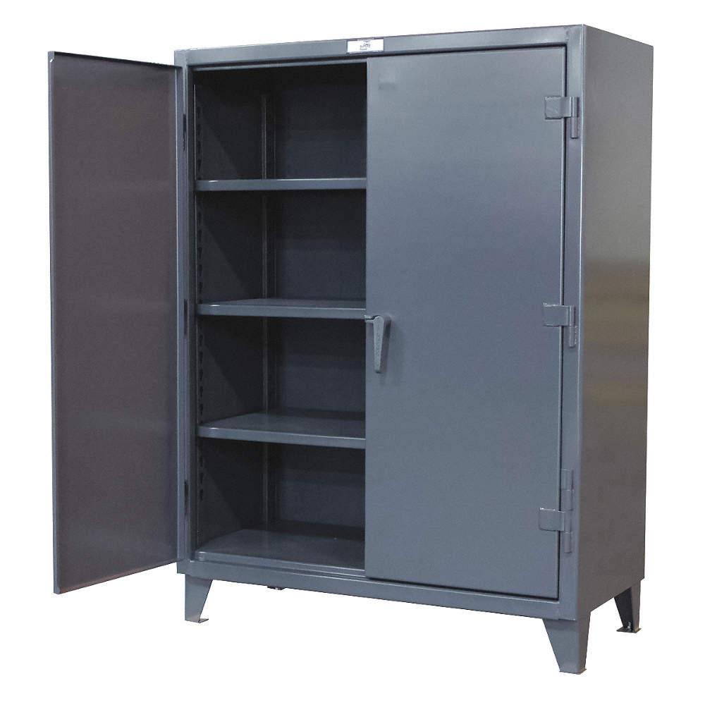 STRONG HOLD Storage Cabinet Dark Gray 78 Overall Height – Locker Storage Cabinet