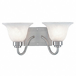 Light Fixture, Brushed Ni, Alabaster