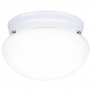 Light Fixture,White,Wh Glass Lens