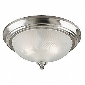 Light Fixture,Brushed Ni,Frosted Swirl