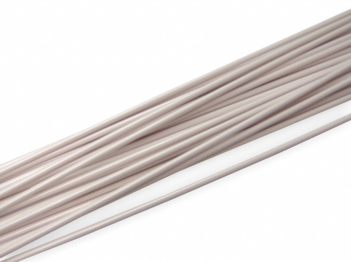 Welding Rod, PVC, 3/16 In, White, PK16
