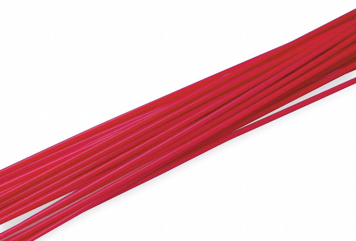 Welding Rod, HDPE, 5/32 In, Red, PK36